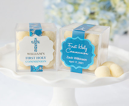 shop first communion JustCandy® favor cubes