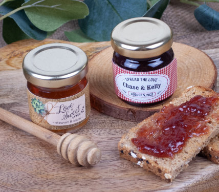 Personalized Jam and Honey Favors