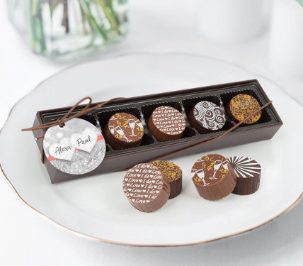 Personalized Gourmet Truffle Favors