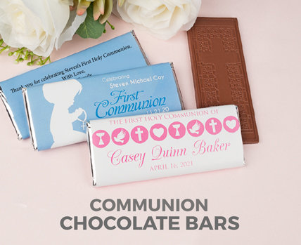 Personalized Communion chocolate bars