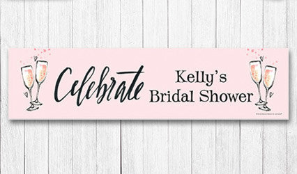 Shop Personalized 5 foot Bridal Shower Banners