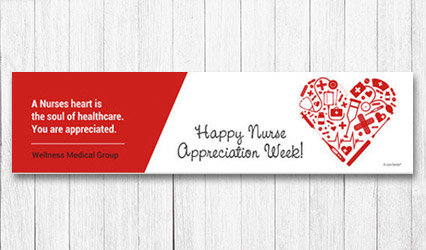 Shop Personalized 5 foot Nurse Appreciation Banner
