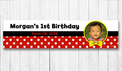 Shop Personalized First Birthday 5 foot banners