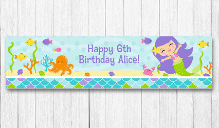 Shop Personalized Kids 5 foot Birthday Banners