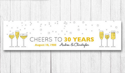 Shop Personalized 5 foot Anniversary Banners