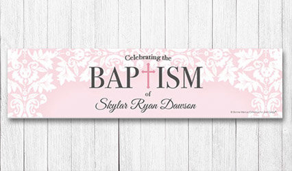 Shop Personalized 5 ft Baptism Banners