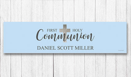 Shop 5 foot Personalized Communion Banners
