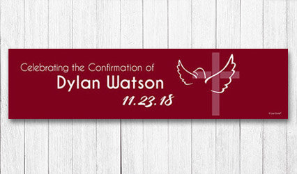 Shop Personalized 5 ft Confirmation Banner