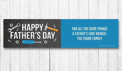Shop Personalized 5 foot Fathers Day Banners