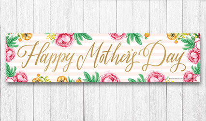 Shop 5 foot Personalized Mothers Day Banners