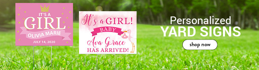 Girl Birth Announcement Yard Signs