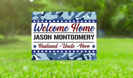 Personalized Patriotic Yard Signs