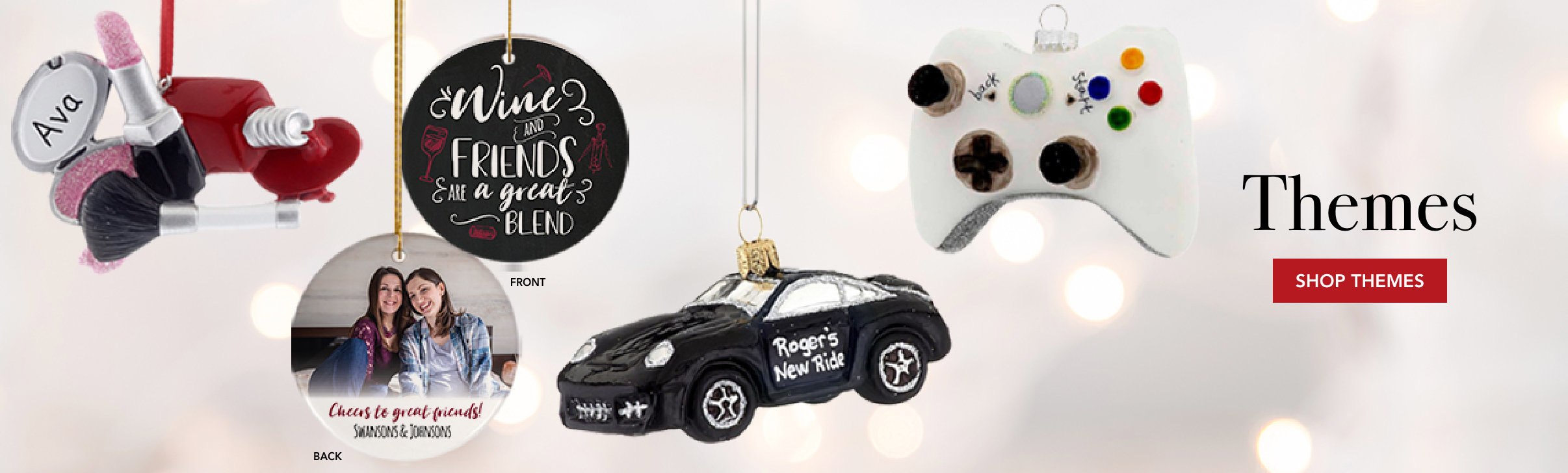 Personalized themed Christmas ornaments