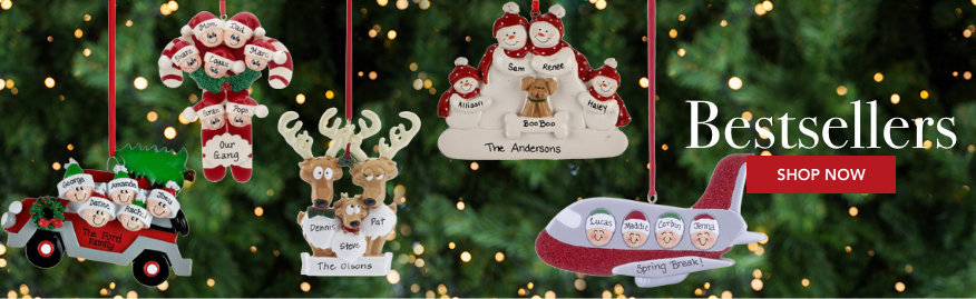 Personalized Best Selling Family Christmas Ornaments