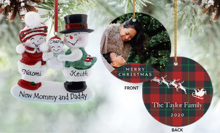 Personalized parent Christmas Ornaments