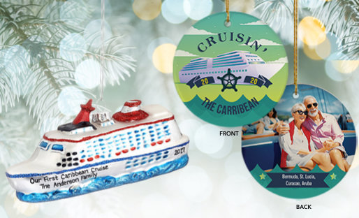 Personalized Cruise Christmas Ornaments