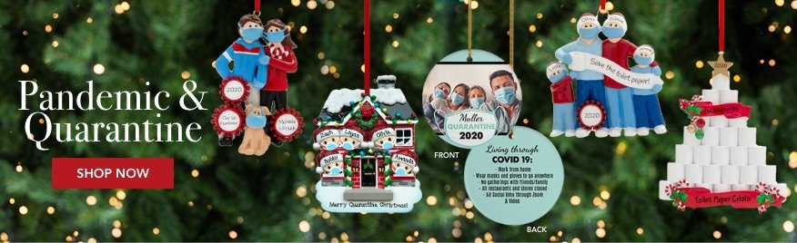 Personalized Pandemic & Quarantine Family Ornaments