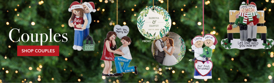 Personalized Christmas Ornaments for Couples