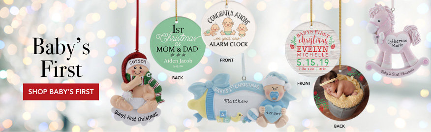 Personalized Baby's First Christmas Ornaments