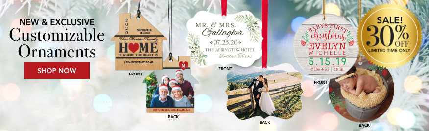 Personalized Custom Occasions & Milestone Christmas Ornaments