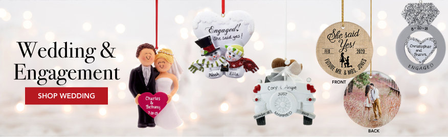 Personalized Wedding & Engagement Ornaments