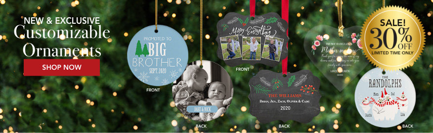 Personalized custom family Christmas ornaments