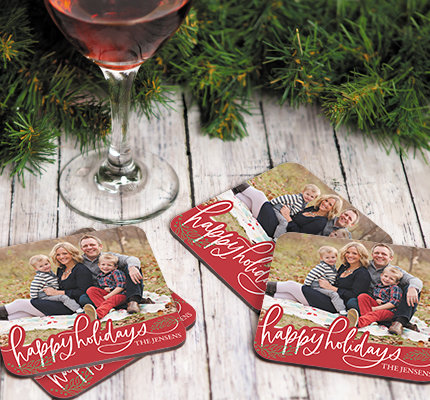 Shop Personalized Holiday Coaster