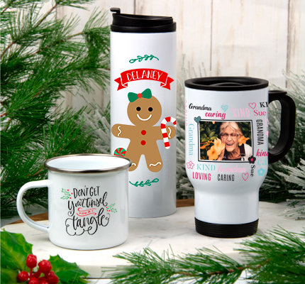 Shop Personalized Holiday Drinkware