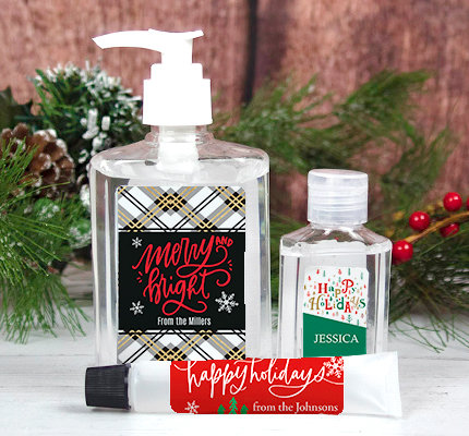 Personalized Holiday and Sanitizers