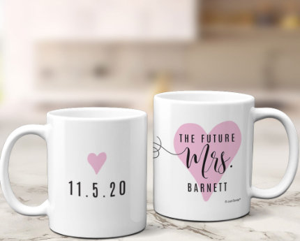 personalized empty wedding mugs