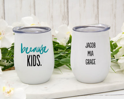personalized family wine tumblers