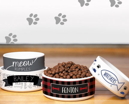 personalized family pet bowls