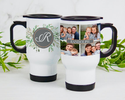 personalized family handle travel mugs