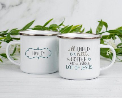 personalized themed camper mugs