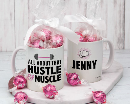 personalized themed candy filled mugs