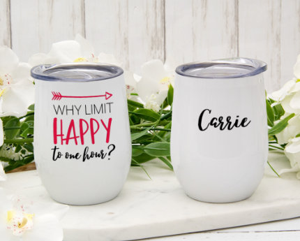 personalized business wine tumblers