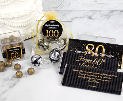 Personalized Milestone Birthday Favors