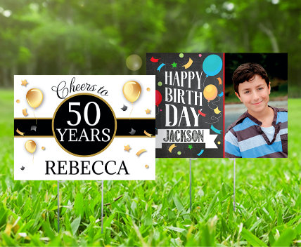 Personalized Birthday Banners and Lawn Signs