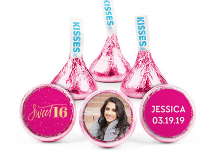 personalized SWEET 16 KISSES