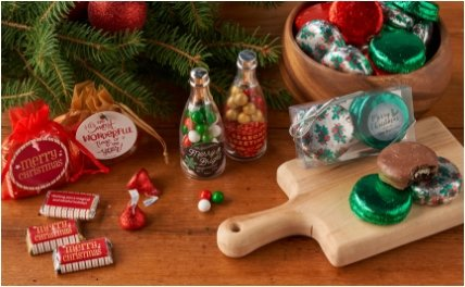 PERSONALIZED HOLIDAY CANDY FAVORS