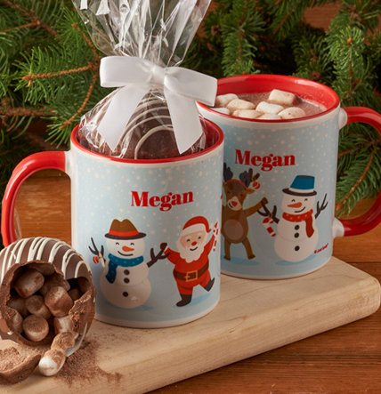 PERSONALIZED CANDY FILLED MUGS