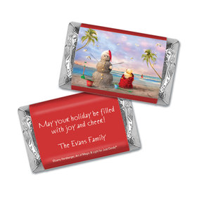 Personalized Christmas Tropical Snowman Mini Wrappers Only