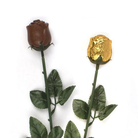 Gold Belgian Chocolate Roses - 20 count Box