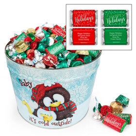 Personalized Baby It's Cold Outside 10 lb Hershey's Holiday Mix Tin