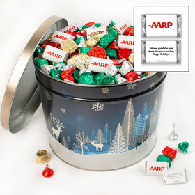 Personalized Crystal Evening 14 lb Add Your Logo Hershey's Mix Tin