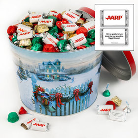 Personalized Christmas Mail 10 lb Merry Christmas Hershey's Mix Tin