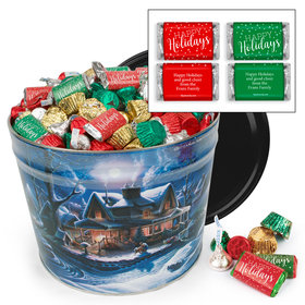 Personalized First Homecoming 14 lb Happy Holidays Hershey's Mix Tin