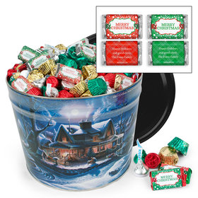 Personalized First Homecoming 10 lb Merry Christmas Hershey's Mix Tin