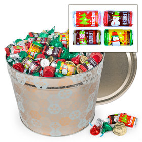 Shining Snowflakes 14 lb Hershey's Holiday Mix Tin