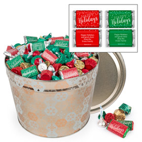 Personalized Shining Snowflakes 10 lb Hershey's Holiday Mix Tin